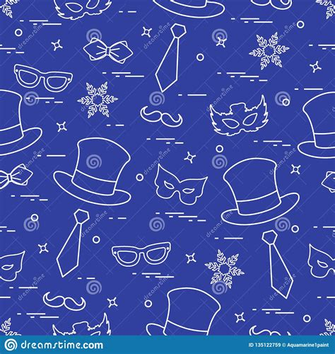 seamless pattern   carnival decorations masks