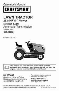 Craftsman Lawn Mower Yt 4500 User Guide