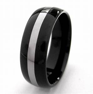 Wedding Bands Mens Black Wedding Bands