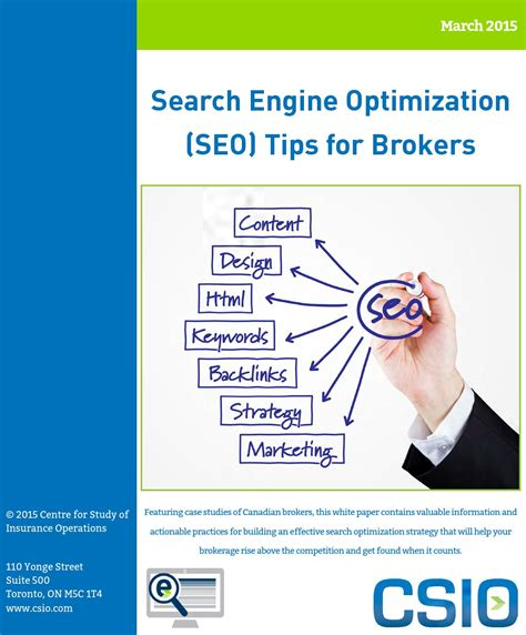 search engine optimisation strategies search engine optimization seo tips for brokers by csio