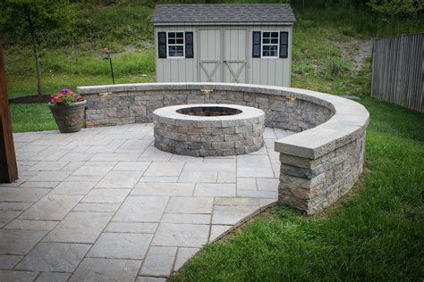 firepit wall sitting walls maryland landscape construction