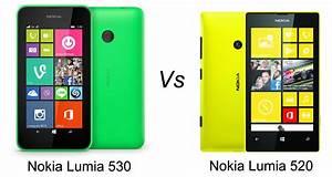 Nokia Lumia 530 Vs Nokia Lumia 520
