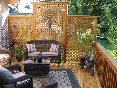 Add Privacy To Deck That Faces Neighbors Yard.
