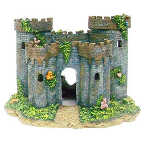 medieval french castle aquarium decoration