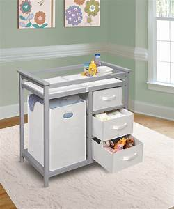 Modern changing table with three baskets hamper ojcommerce for Modern changing table with hamper designs