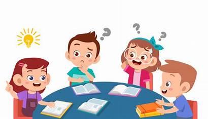 Discuss Study Class Homework Together Happy Kinder