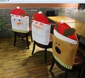Christmas Decoration Christmas Chairs Back Covers Santa