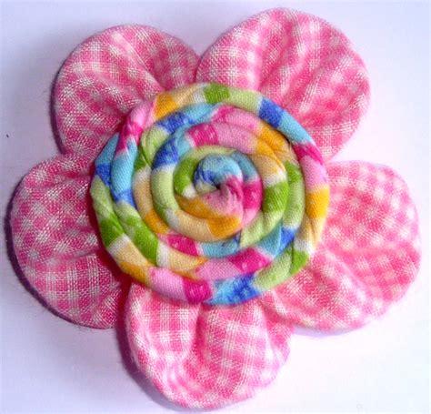 membuat bros bunga kain perca art energic