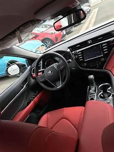 2018 Toyota Camry Red Interior