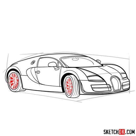 Next learn how to draw ferrari 488 gtb next. How to draw Bugatti Veyron 16.4 Super Sport - SketchOk - step-by-step drawing tutorials