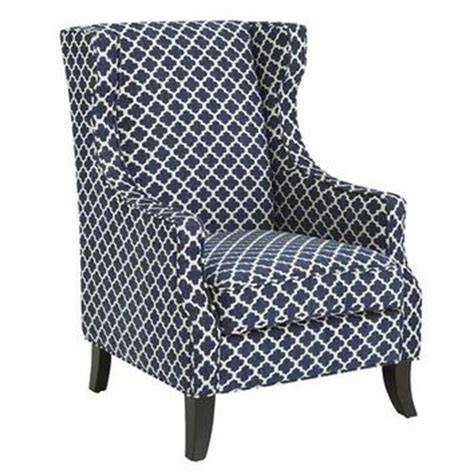 alec wing chair navy trellis from pier 1 imports home