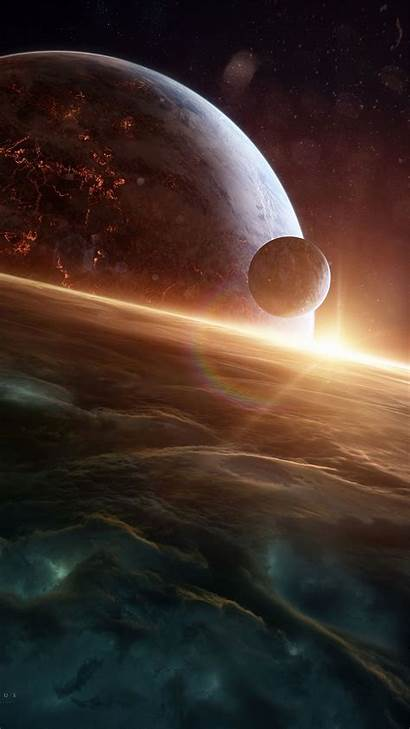 Space Outer Planets Galaxy Universe Background Planet