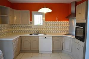 Peindre Meuble Cuisine : encore une cuisine l 39 atelier de la baronne delphine cot ~ Melissatoandfro.com Idées de Décoration
