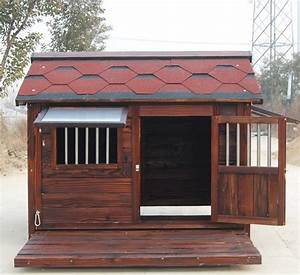 outdoor large solid wooden dog kennel buy cheap dog With inexpensive dog houses