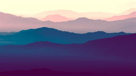 Purple Mountains Minimal 4k Wallpapers
