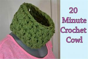 20 Min Thick And Quick Neck Warmer Crochet Tutorial Cowl
