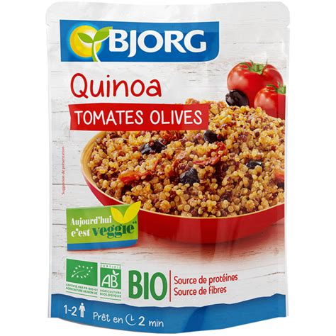 plat cuisiné bio quinoa tomates olives bio les plats cuisinés bjorg