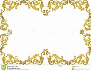 Vintage Floral Frame Isolated On White Background Royalty ...