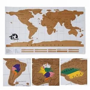 Carte Du Monde Deco Murale : carte du monde gratter scratch map voyage voyageur carte ~ Dailycaller-alerts.com Idées de Décoration