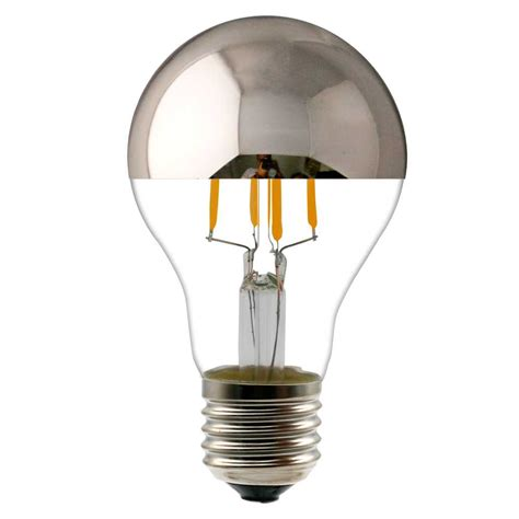 mirror with light bulbs a19 led filament light bulb with half silver mirror led