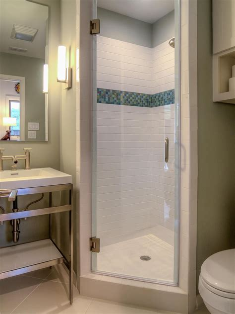 Shower Designs For Small Bathrooms by A Stall Shower Fits Perfectly In The Corner Of This Small
