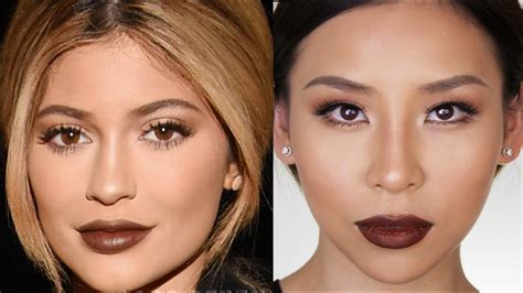 kylie jenner fall makeup tutorial great  hooded