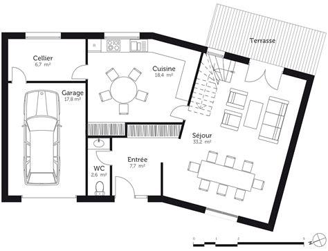 Plan Maison En V Avec Etage Plan Maison En V 224 233 Tage Ooreka