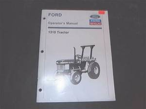 Ford 1310 Tractor Operators Manual