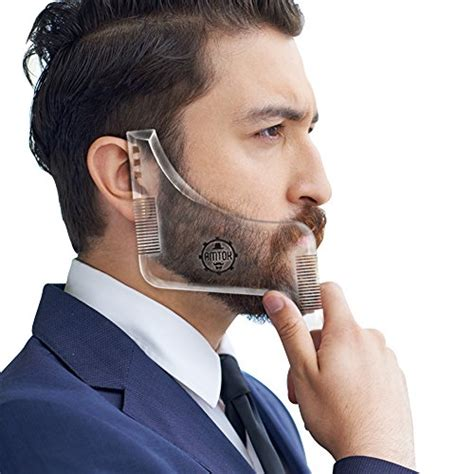 cheek beard line template amtok beard shaping tool template beard ruler beard shaper