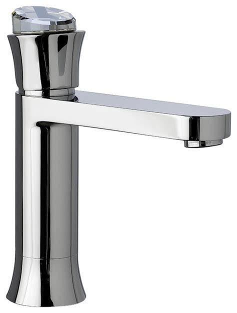 Musa Bathroom Faucet W Swarovski Crystal, Polished Chrome