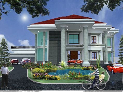Gambar Teras Di Samping Rumah contoh tampak depan rumah mewah terbaru januari 2020