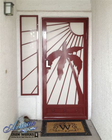sandy beaches wrought iron security screen door