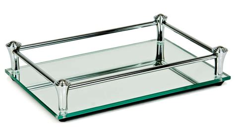 Mirrored Bathroom Tray by Glass Vanity Mirrored Tray Dressing Table Jewelry Perfume