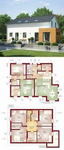 Bauen Zweifamilienhaus Grundriss : zweifamilienhaus mit einliegerwohnung satteldach ~ Lizthompson.info Haus und Dekorationen