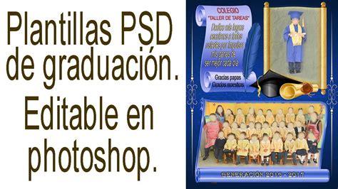 Editar Template De Texto Psd by Plantillas Psd Graduaci 243 N De Escuela Gratis Recursos