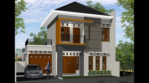 gambar desain rumah minimalis  lantai  biayanya