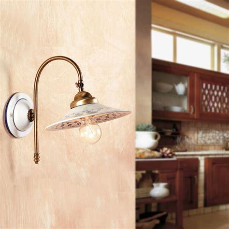 applique cucina lada parete applique ceramica ottone classico rustico