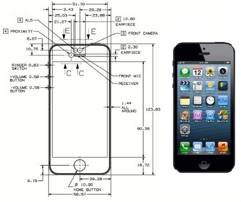 iphone 5s height iphone 5s dimensions iphone 5