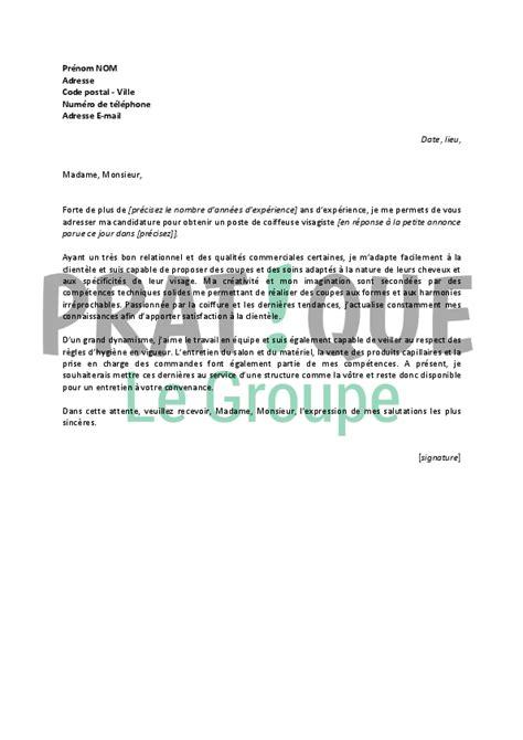lettre de motivation pour un emploi de coiffeuse visagiste confirm 233 e pratique fr