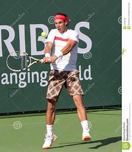 Rafael (Rafa) Nadal At The 2010 BNP Paribas Open Editorial ...