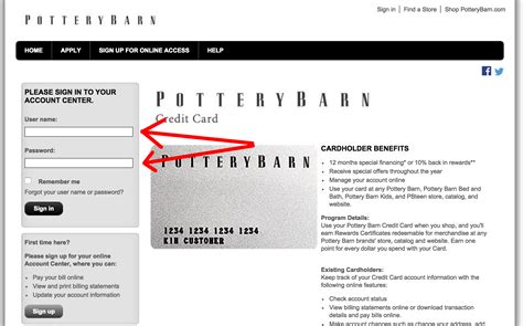 pottery barn credit card payment pottery barn credit card login make a payment