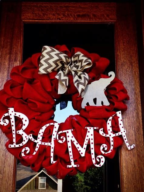 Football Wreath Decorations - best 25 alabama football wreath ideas on