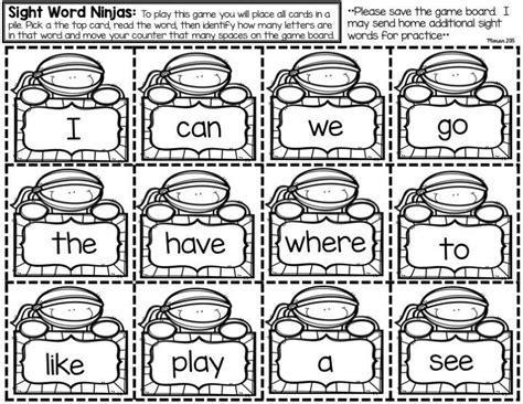 sight word make and take freebie kindergarten 383 | 361cfef28e1572f6766b3fc5f908de1f