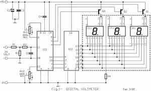 Digital Volt And Ampere Meter Circuit Diagram