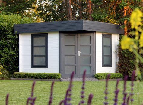 Flachdach Gartenhaus Modell Oregon40