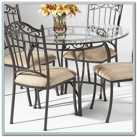 Glass And Wrought Iron Kitchen Table Sets  Kitchen Set