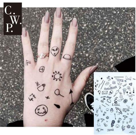 bh  piece stick  poke black henna tattoo