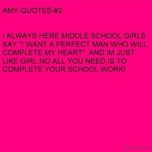 Quotes About Girls Middle Schools. QuotesGram
