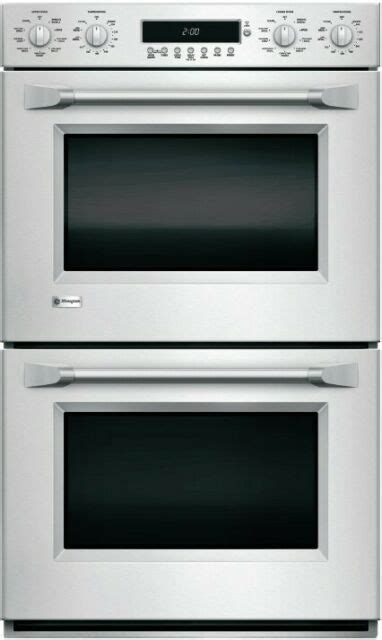 ge monogram zetphss  smart stainless steel double wall oven  convection ebay