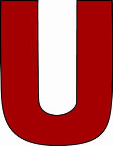 red letter u clip art red letter u image With red letter u